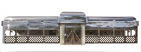 Classic American Diner on White Фото со стока