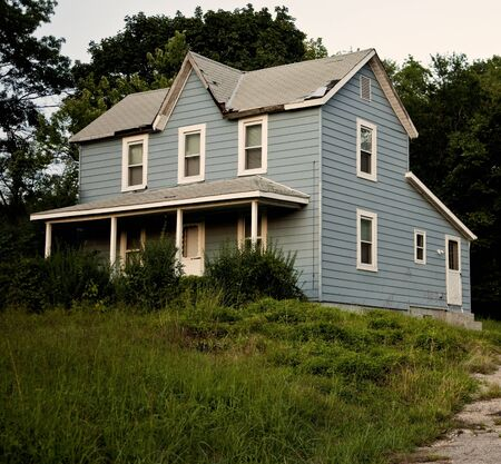 Old Blue Farmhouse