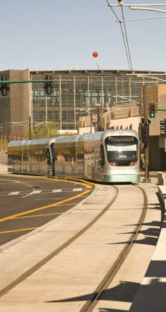Phoenix Metro Light Rail Train Imagens