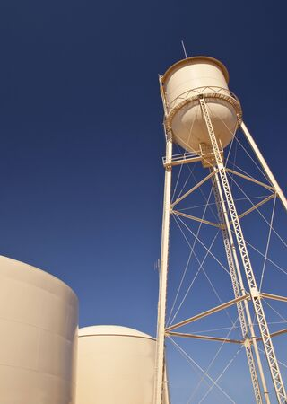 Water Tanks and Blue Sky