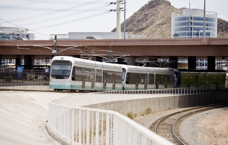 Phoenix Metro Light Rail Train Stock Photo