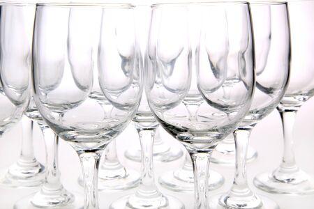 Wine Glasses Against White Background