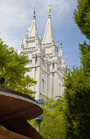 mormon temple: Famous Mormon Temple in Salt Lake City, Utah