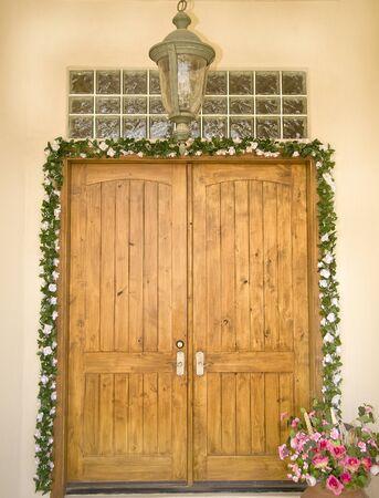lintels: Ornate formal entry way door