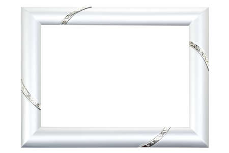 Silver Picture Frame Isolated on White