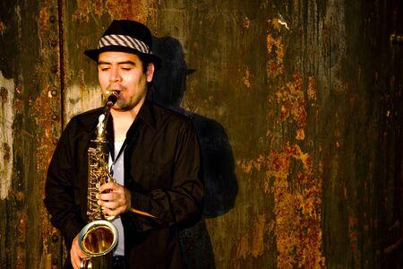 Saxophone Player Stock Photo