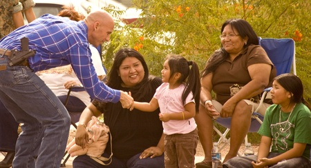 COOLIDGE, AZ - October 5, 2008: Paul Babeu, battling   allegations about abuse of power related to a homosexual   relationship with a Mexican immigrant at a parade in Coolidge   Arizona in October 2008. Editorial