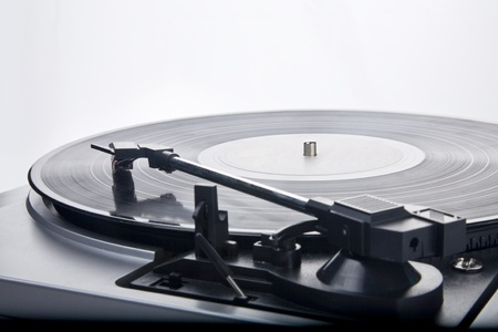 vintage Style Record Player 写真素材