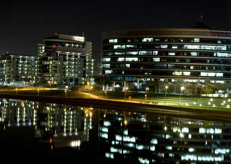 Tempe Arizona Waterfront Night