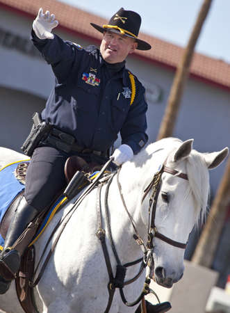 cavalry: Mounted Cavalry Officer in Arizona Parade Editorial