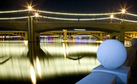 Tempe Arizona Mill Avenue bridges Stock Photo - 13261246
