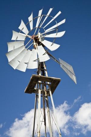 Old west-style farm windmill