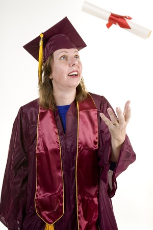 nontraditional: Nontraditional Student Graduating
