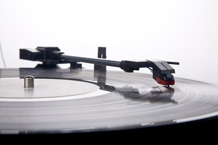 vintage Style Record Player Imagens