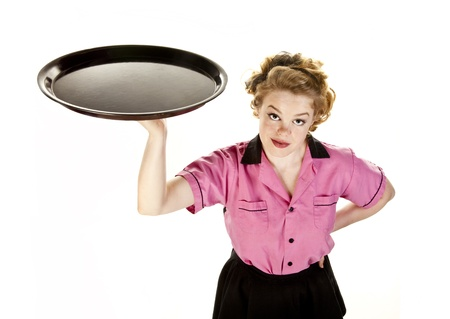 Vintage Style Waitress or Server