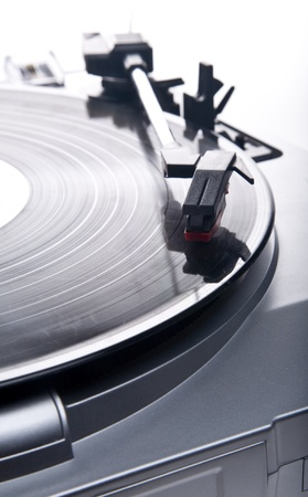 Old-style vinyl record player