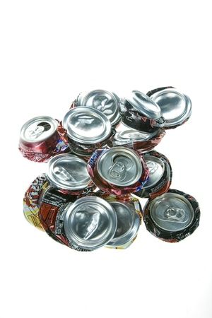 Pop cans crushed and ready for recycling Stock Photo - 14159865