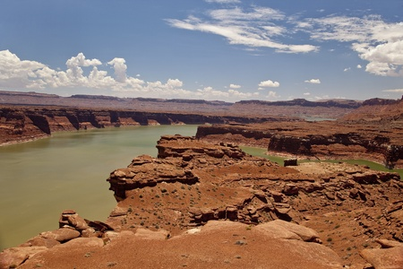 Hite Marina Area on Lake Powell Stock Photo - 16307583