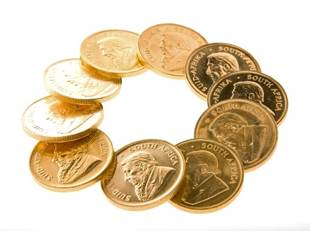 Gold Krugerrand Coins Stock Photo - 16307579