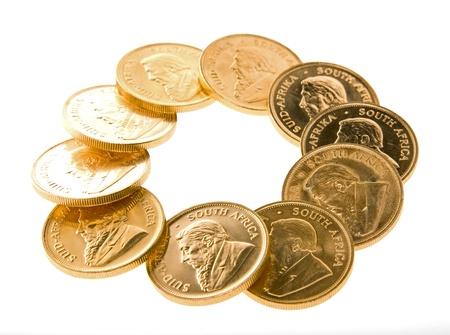 Gold Krugerrand Coins Imagens - 16307579