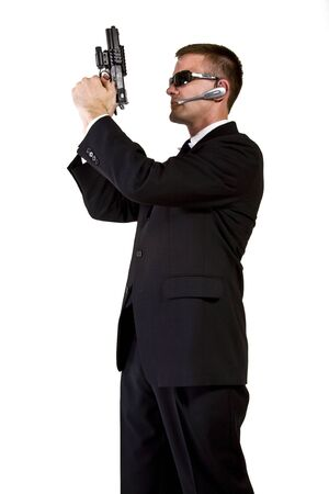 Secret Agent Armed and Dangerous Stock Photo - 16248373