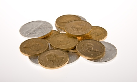 Gold and Silver Coins photo