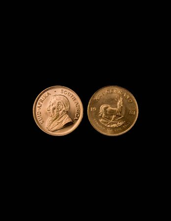 Gold Krugerrand Coins Stock Photo - 16307575