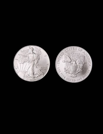 Silver Liberty Coins Stock Photo - 16307576