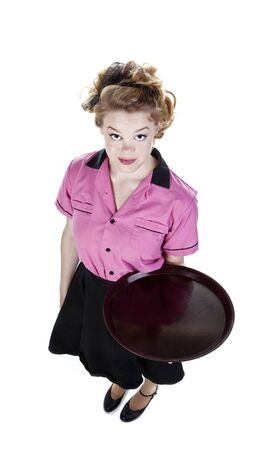 Vintage Style Waitress or Server Stock Photo - 16638616