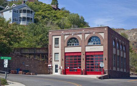 Historic Jerome Arizona Fire Station Number 11 Stock Photo - 16652075