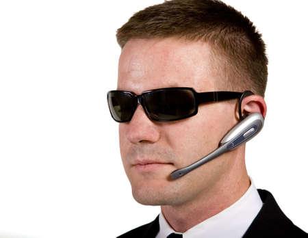 Secret Agent Listening Stock Photo - 16638619