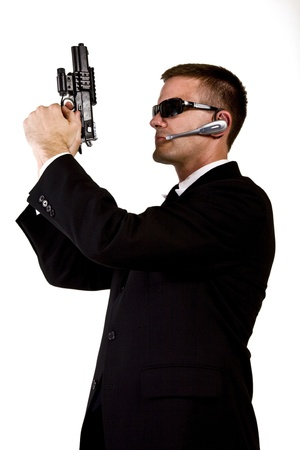 Secret Agent Armed and Dangerous Stock Photo - 16638610