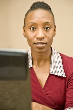 African American Customer Support Representative photo