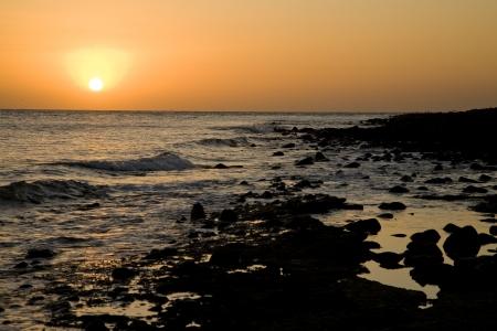 Sunset at Puerto Penasco, Mexico Stock Photo - 16646333