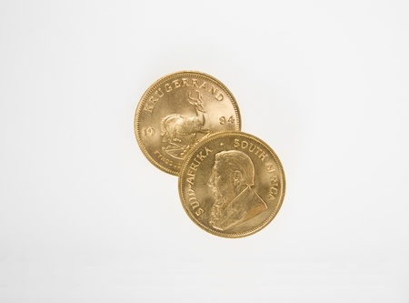 Gold Krugerrand Coins Stock Photo - 16646255