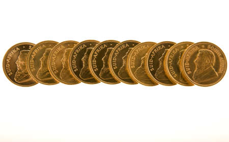 Gold Krugerrand Coins Stock Photo - 16646306