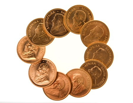 Gold Krugerrand Coins Stock Photo - 16646301