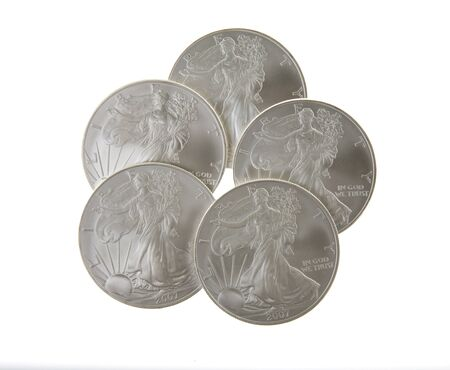 Silver Liberty Coins Stock Photo - 16646261