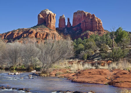 coconino national forest: Cathedral Rock from Red Rock Crossing