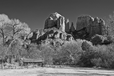 coconino national forest: Cathedral Rock from Crescent Moon Ranch