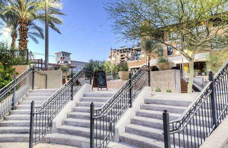 Downtown Scottsdale Arizona in the Waterfront District  Editorial