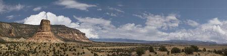 san rafael swell: Panoramic of Utahs San Rafael Swell at Chimney Rock