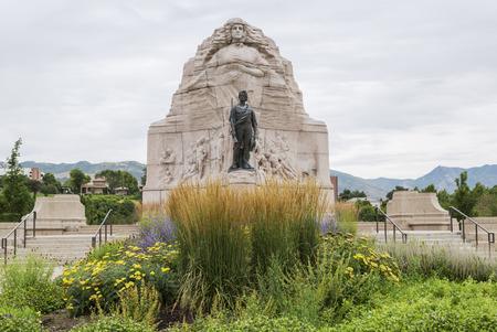 batallon: Batall�n Morm�n Monumento en Salt Lake City, Utah Foto de archivo