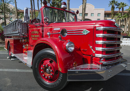 old truck: Historic Old Fire Engine from Tempe Arizona