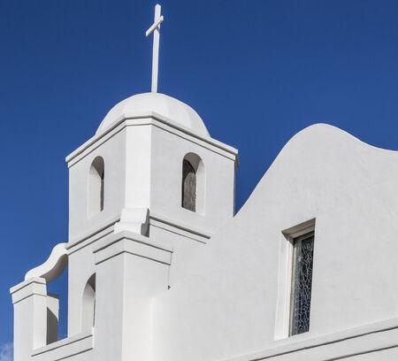 scottsdale: Historic Old Adobe Mission in Old Town Scottsdale, Arizona. Stock Photo