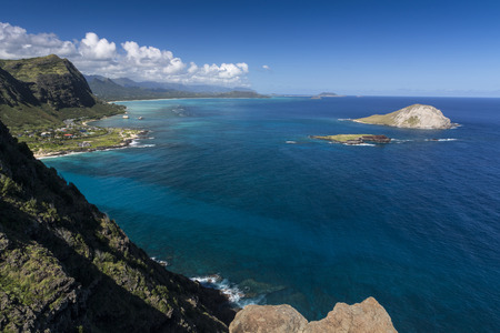 Manana and Kaohikaipu Islands, commonly known as Rabbit and Turtle Islands off the coast of Oahu Hawaii photo