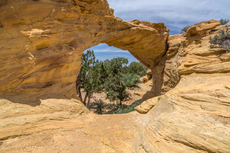 san rafael swell: Dutchmans arch in the San Rafael Swell of Southern Utah located near Interstate 70.