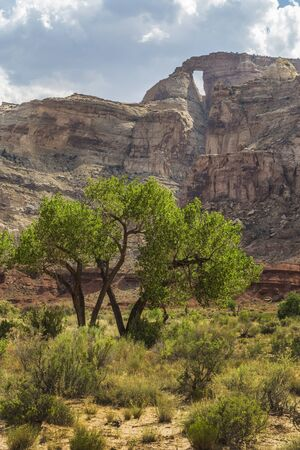 san rafael swell: McKay Flat and Hondu Arch in the San Rafael Swell near Greenriver Utah. Stock Photo