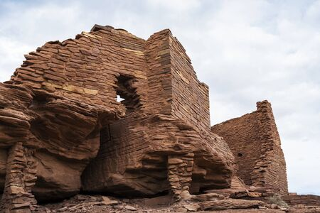 anasazi: Wukoki pueblo ruin in Wupatki National Monument near Flagstaff Arizona.