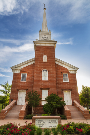 lds: Historic Tabernacle in St. George, Utah opened in 1876 by the Mormon Church under the direction of Brigham Young Jr.